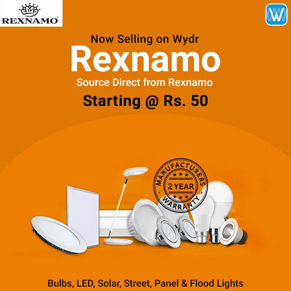 Retailers, source LED bulbs and lights direct from Rexnamo on #Wydr Wholesale E-Commerce. SuperFast Delivery! Buy in bulk.