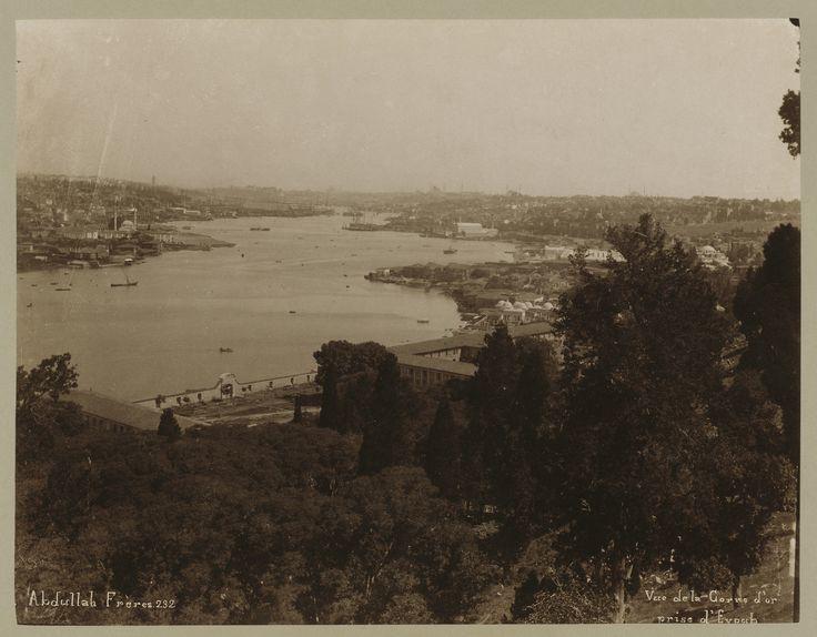 Eyüp'ten Haliç Abdullah Fréres fotoğrafı 1880-1900 LOC Arşivi