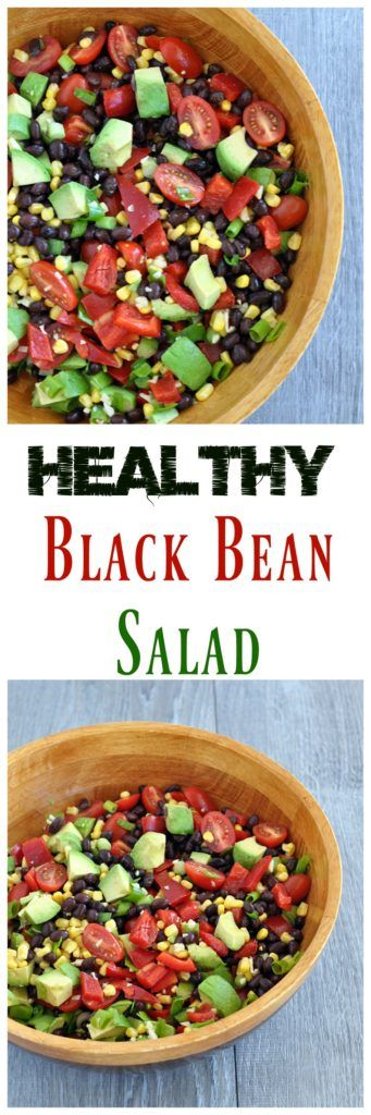 Super healthy and easy black bean and corn salad. Whip it up in minutes and everyone will love it. Vegan and gluten free too!