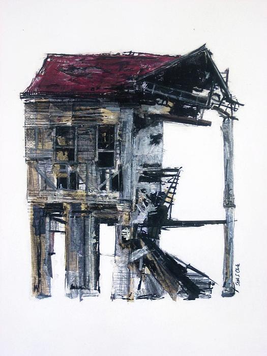 Abandoned IV Drawing - Seth Clark