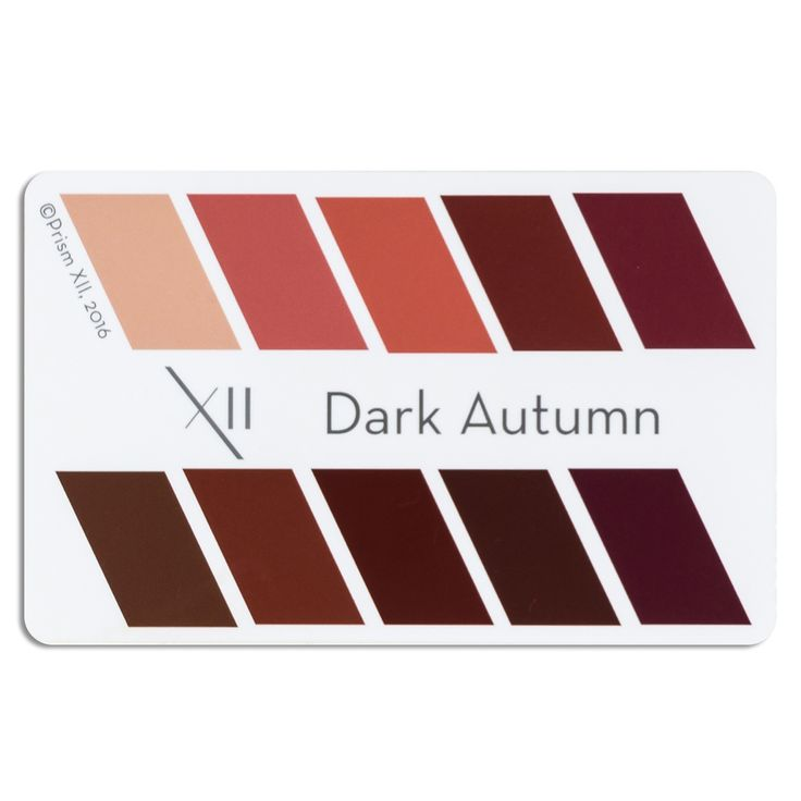 """A credit card sized card showing 10 perfect lipstick colors for your seasonal tone 2""""x3"""". Can be laminated, or presented in a clear plastic envelope for protection Pop it in your wallet, with your credit cards, and never be without an accurate color swatch to use when purchasing a new lipstick."""