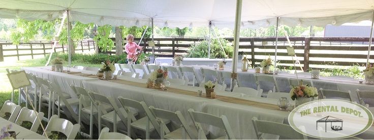 The Rental Depot specialize in table and chair rentals, wedding tent rentals, tent rental and tablecloth rentals in Louisville KY. Call us at 502-458- 7368