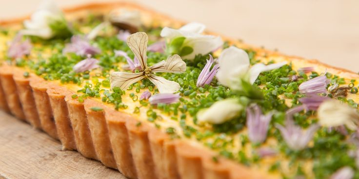 Emily Watkins makes the most of seasonal ingredients to make a fantastic asparagus and hollandaise tart recipe.
