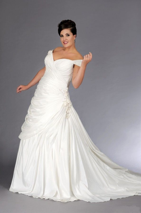 cool plus size wedding dresses with v neck design style : Cool Plus Size Wedding Dresses With V Neck Design Style
