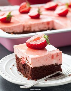 Chocolate & Strawberry Mousse Cake