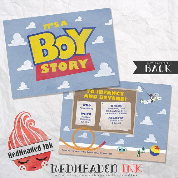 Toy Story Baby Shower Invitation by RedHeadedInk on Etsy