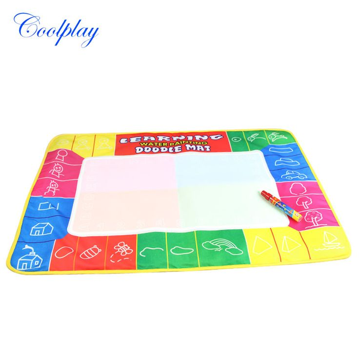 Coolplay 72X49cm 4 clolors  Water drawing board with color box with 1pcs magic pen/t  /Water Mat/aquadoodle mat