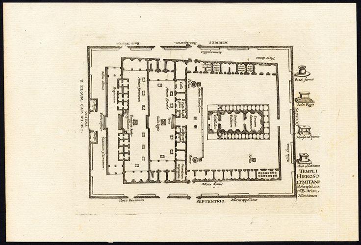 Antique Religious Print Temple Jerusalem Solomon Israel Bouttats Spanoghe 1784