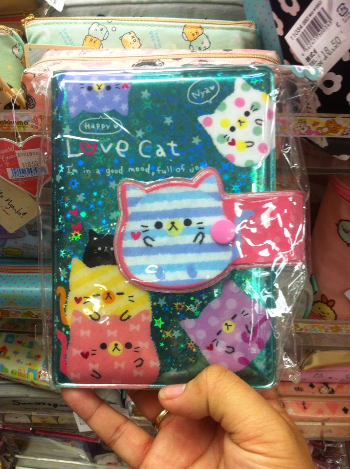 This super ultra cute and shiny cat notebook~