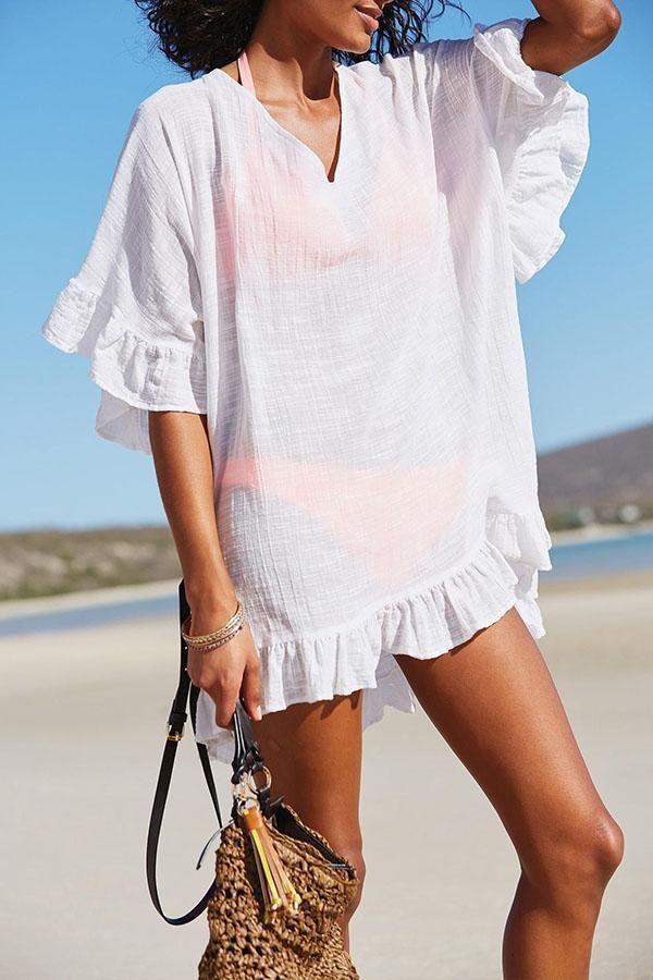 330e6922b1a Solid Color Bikini Cover Up   beach coverups—>   Beach wear dresses ...