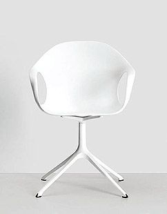 2011 sees the new version of Elephant with polished or painted die-cast aluminium swivel base #chair #neuland #whitechair #armchair