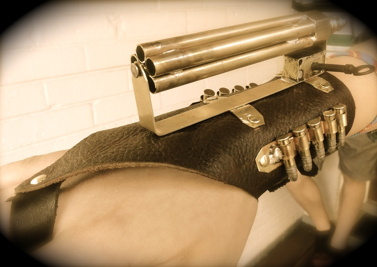 Ring In The Steampunk Decor To Pimp Up Your Home: Wrist Mount Gatling Gun Steampunk I Built This For My