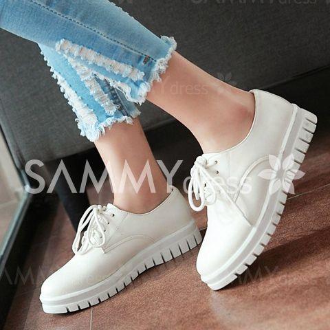 Женские повседневные туфли без каблука