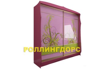 Уникальный детский розовый шкаф-купе