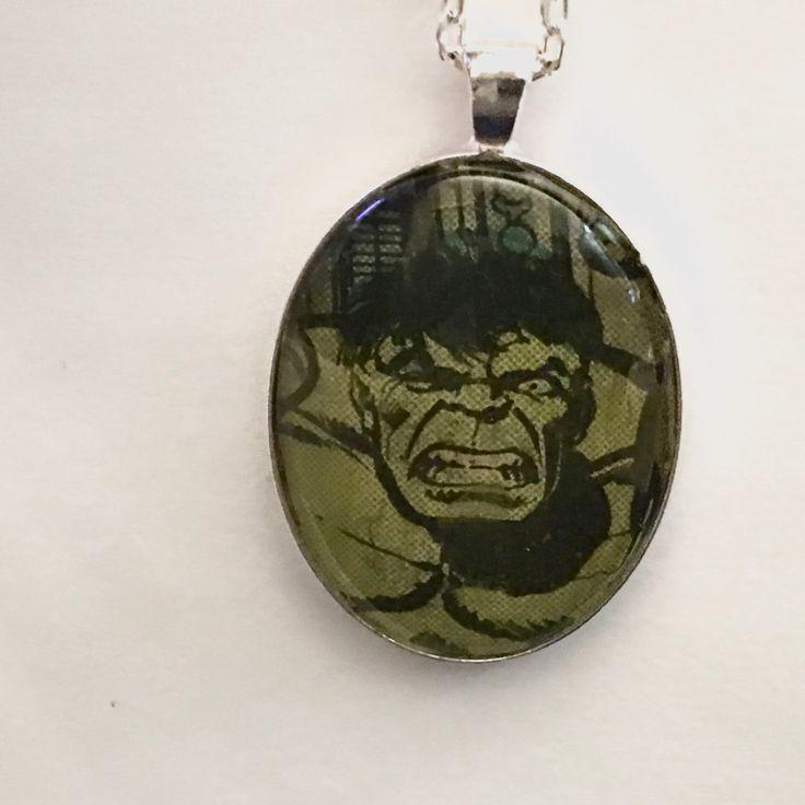 Hulk Necklace, Superhero Necklace, Comic Book Necklace, Hulk Smash by BrooklynYards on Etsy