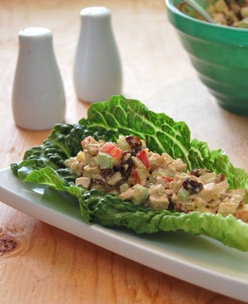 Curried Chicken Salad with Apples, Raisins and Pecans