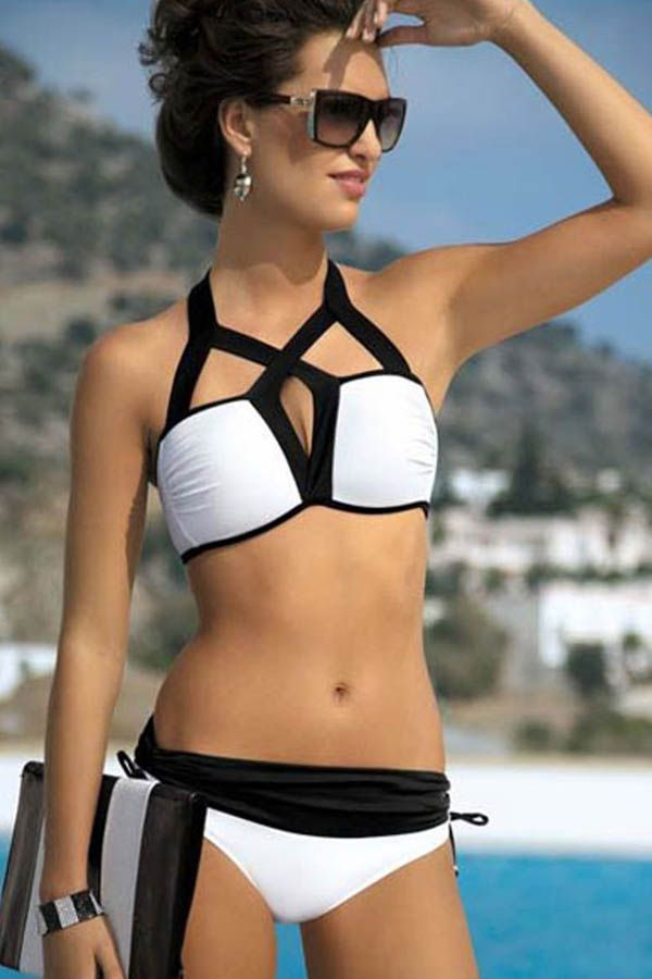 Black White #Bikini #swimsuit