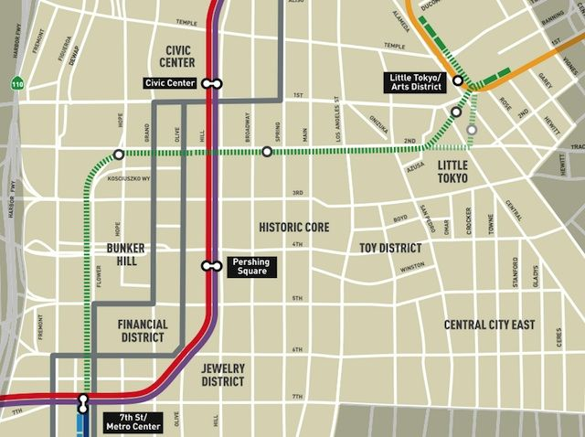 New York City Subway Diagram 1998 Ford Ranger Starter Wiring Linking The Lines: Metro Approves Dtla Regional Connector Transit Corridor Project | Maps ...