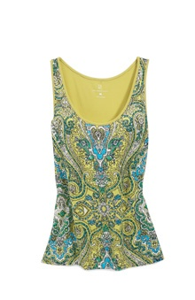 Colorful patterns, glittering sequins and delicate embroidery: With this stunning scoopneck top, you can have it all.