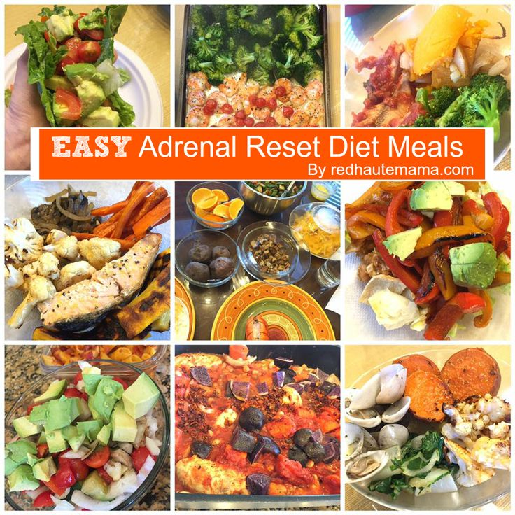 EASY Adrenal Reset Diet Meals | Red Haute Mama