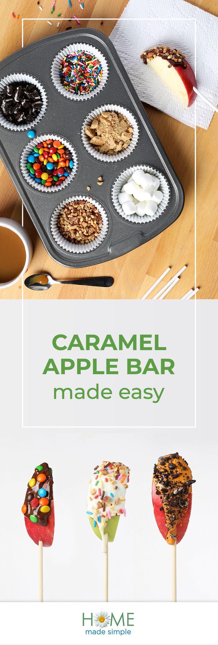 DIY Karamell Apfelriegel   – DIY Halloween Ideas