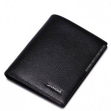 Elegancki krótki portfel męski Czarny