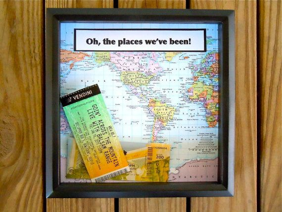 Shadow Box Ticket Holder - The perfect gift for someone who loves to travel!