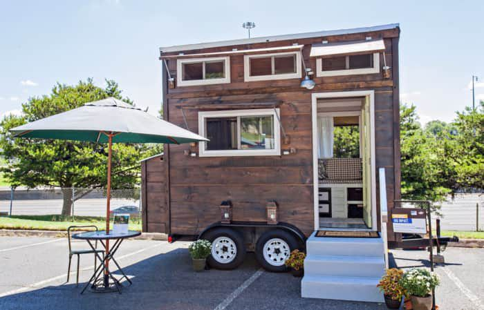 This is a beautiful 'TV Star' 123 sq. ft. tiny house on wheels that was auctioned off for charity is now listed on Tiny House Listings for $24,000 out of Knoxville, Tennessee. Bought th…