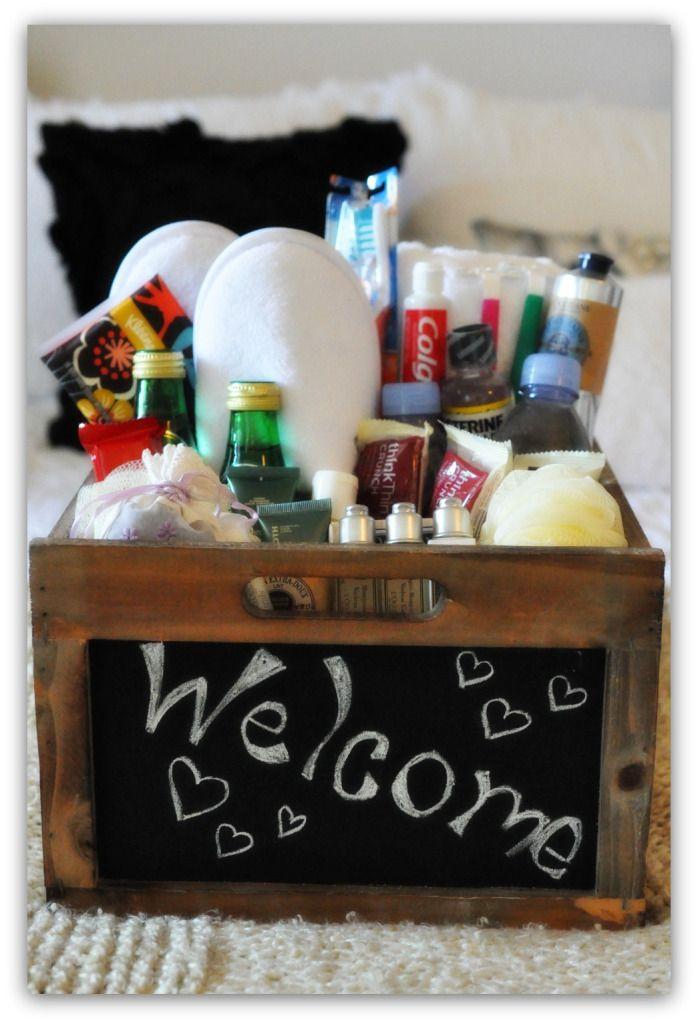 Best 25 Guest Welcome Baskets Ideas On Pinterest