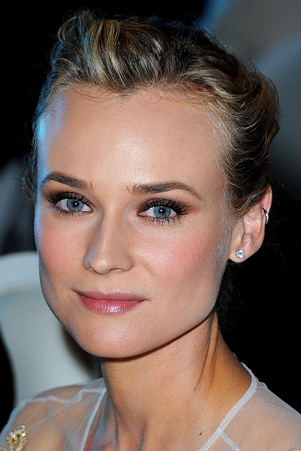 Diane Kruger's simple cartilage hoop is a staple on the red carpet - and adds edge to her classic beauty look.