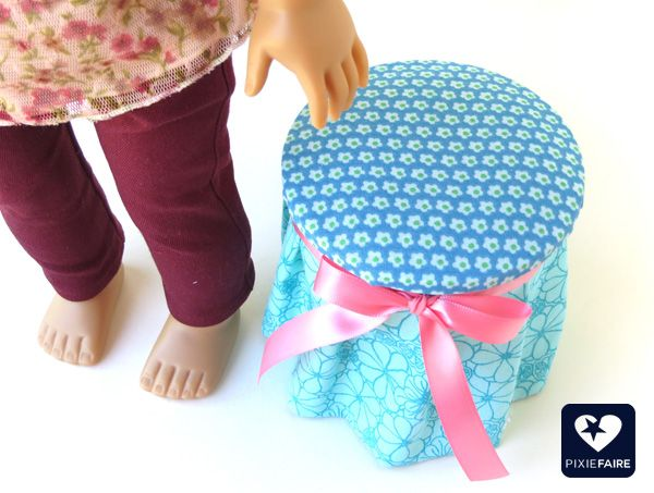 Sewing Storage Ottoman | Pixie Faire