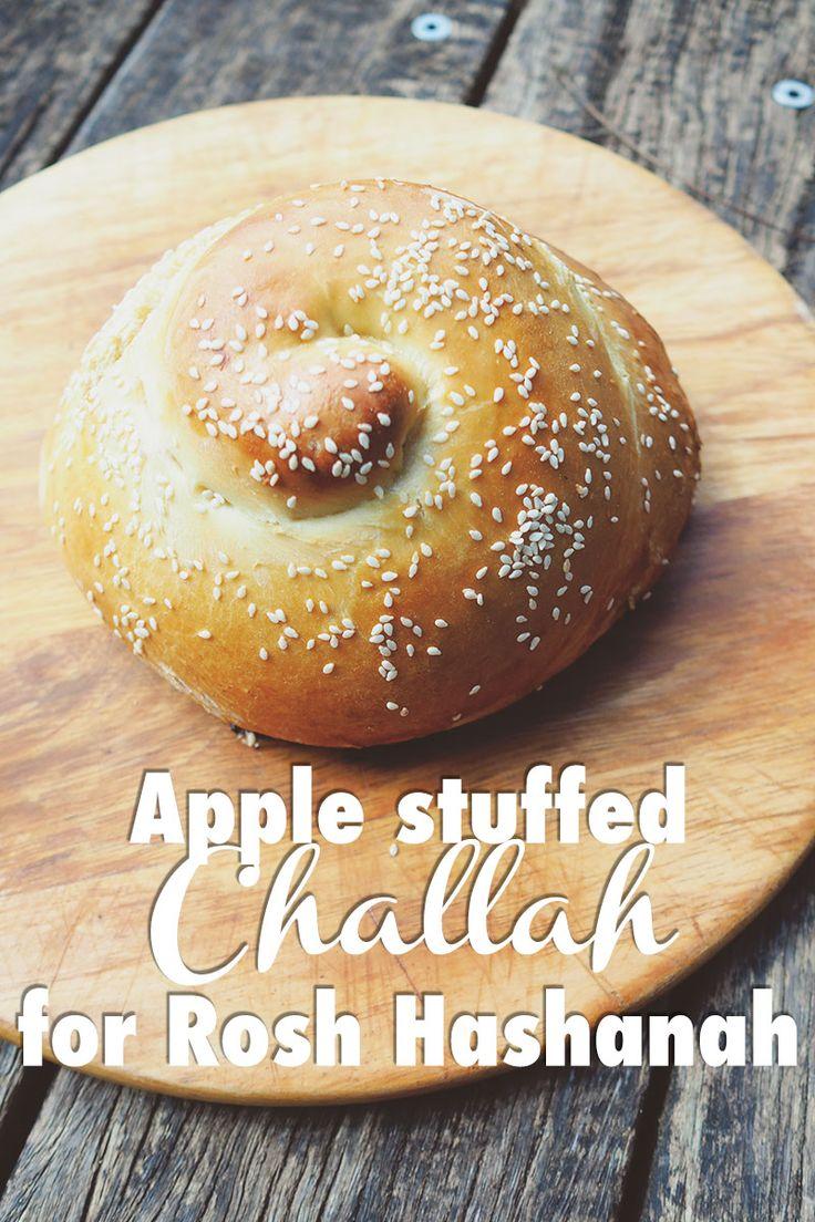 Apple stuffed challah