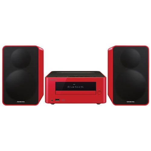 Onkyo CS-265 Mini CD Hi-Fi System with Bluetooth - Red : Mini & Micro HiFi Systems - Best Buy Canada