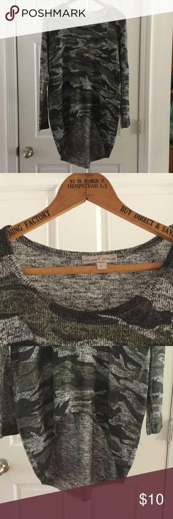 Spotted while shopping on Poshmark: Moa C' Moa Camouflaged top.! #poshmark #fashion #shopping #style #Moa Moa #Tops