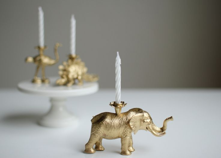 Hank and Hunt - DIYS - how to make gold party animal birthday candles