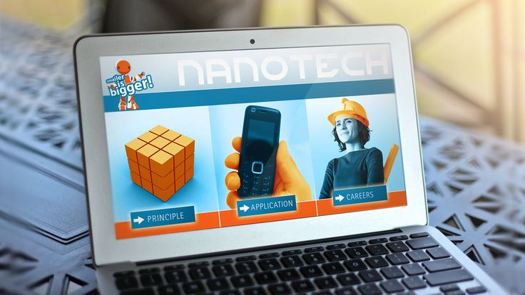 To help learners better grasp the basic principles and practical application of nanotechnology, Formula D interactive developed the Nanotech – Smaller is Bigger interactive console. The application not only provides information but also lets learners experiment with their understanding in a mini-game.