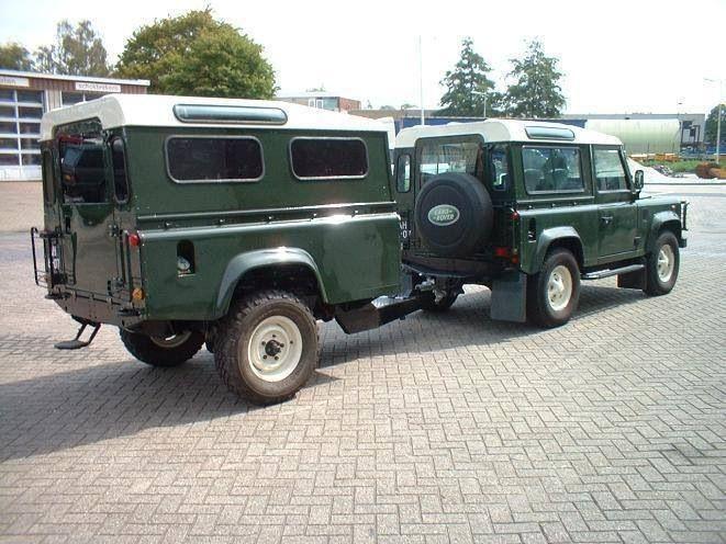 Landrover defender 90 with landrover trailer