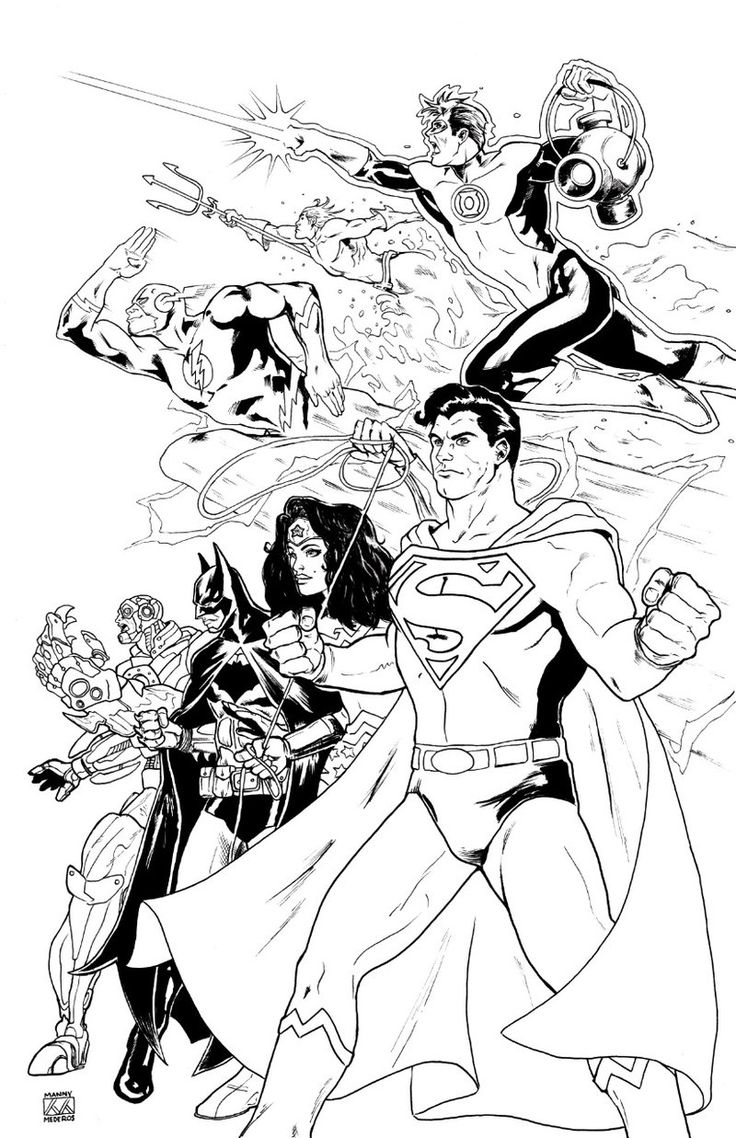 Printable coloring pages justice league - Justice League By Mannymederos Deviantart Com On Deviantart Justice Leaguecoloring Pagescomic
