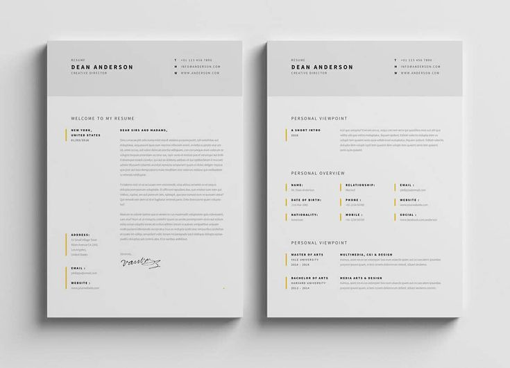 "One of the best-looking resumes, don't you think? This ""Minimal Resume / CV / Curriculum Vitae with 7 Pages"" by Egotype has got all the modern resume characteristics while maintaining a classic vibe: a minimalist design, easy-to-find contact info, a subtle color palette, and much more."
