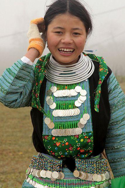 Vietnam. Hmong girl in Mon Chau province.