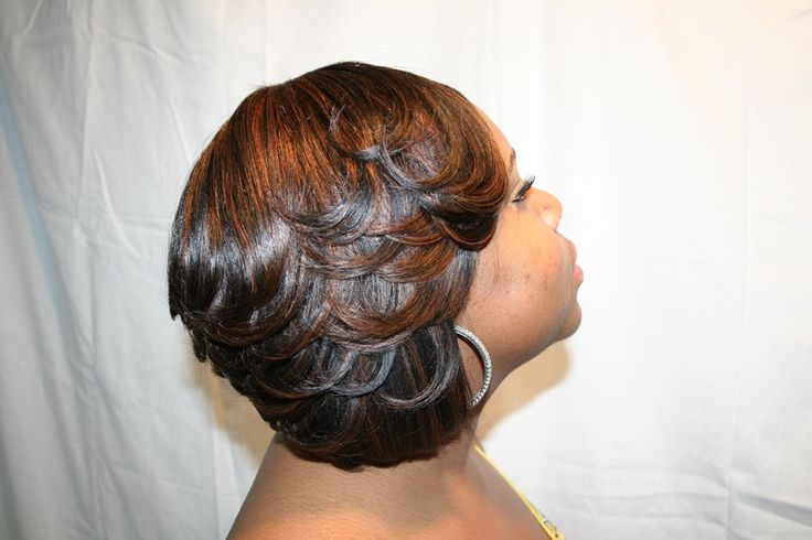 Sew In Feathered Bob Hairstyles Sew in weave bob hairstyles