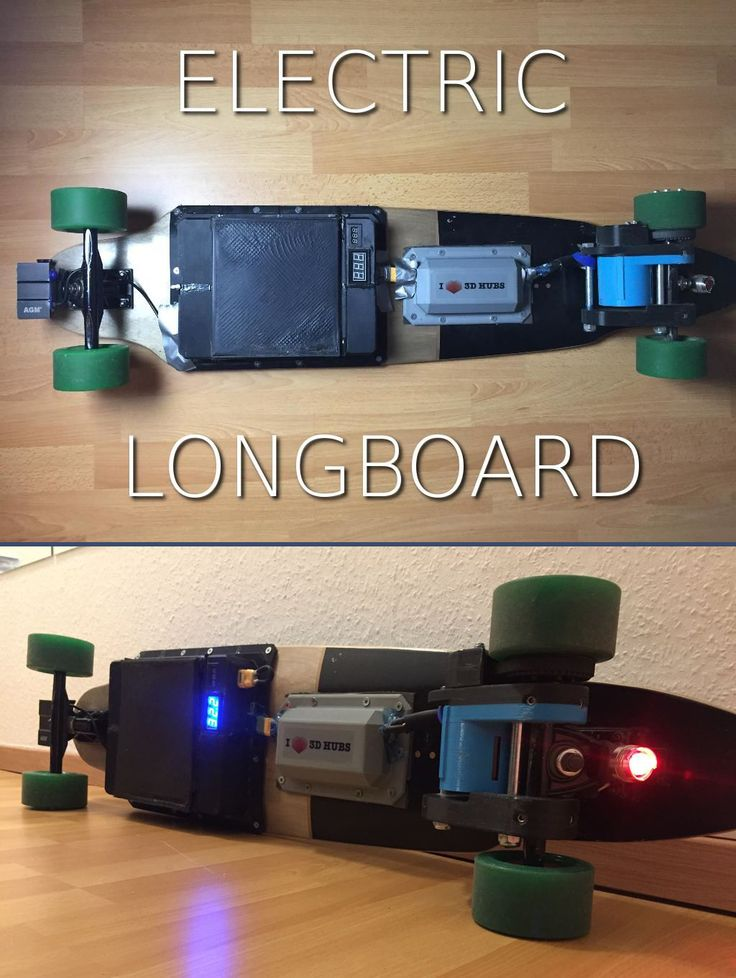 How to build an electric longboard/skateboard out of 3D-printed components as well as off-the-shelf RC components & open source software/hardware.