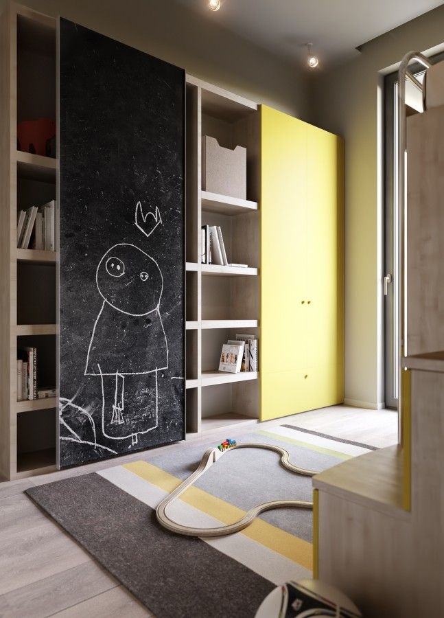 Златоустовская | RUSLAN KOVALCHUK #interior #yellow #black #children'sroom