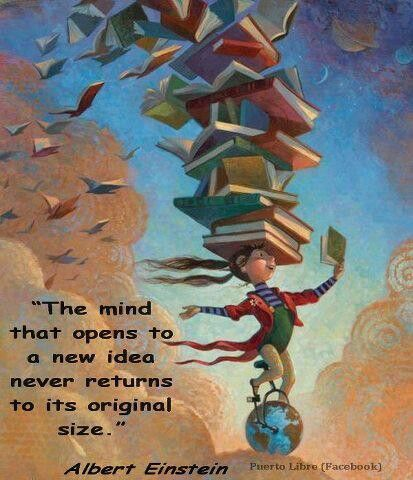 Reading books help open your mind!