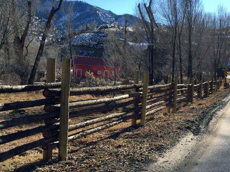 Log Pole Fence ~ Best log fence images on pinterest