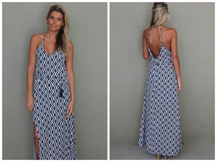 Geometric print maxi. So easy to throw on for the  beach with sunnies and a panama or seeing the sights ... just add cons.