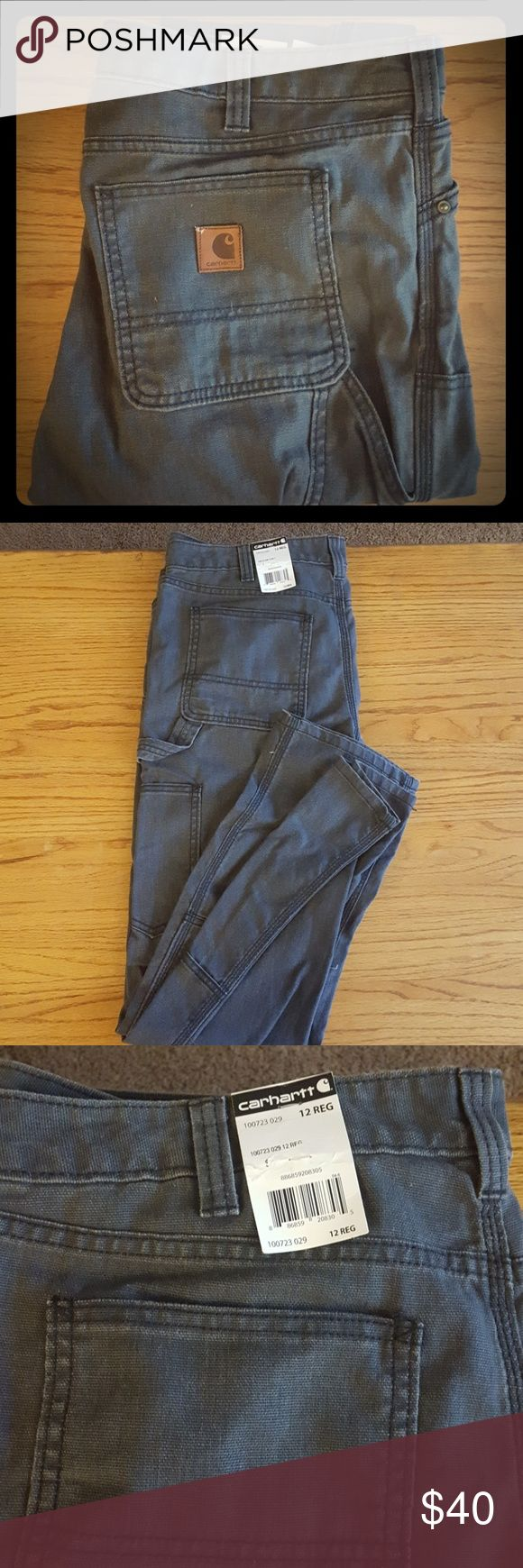 Carhartt womens jeans Brand new, never worn, grey womens carhartts with pockets on the sides Carhartt Jeans Boot Cut