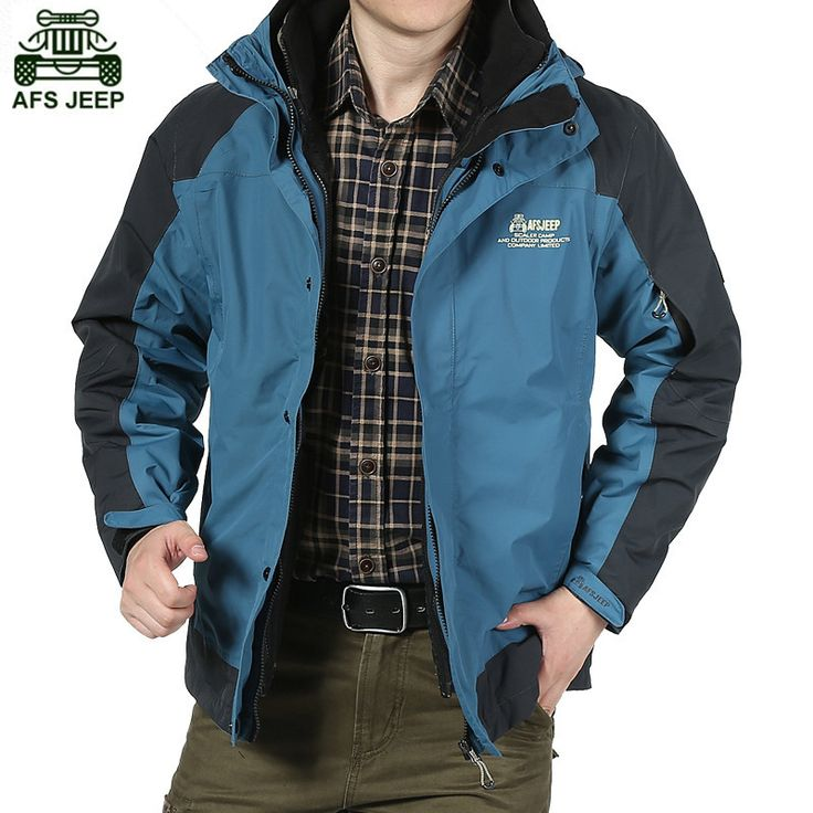AFS JEEP Brand Waterproof Windproof Men Outdoor Rain Fishing Camping Hiking Ski Climbing Clothing Hunting Clothes Fleece Jackets
