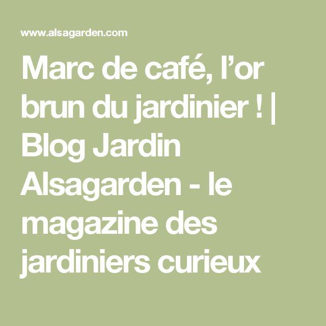 Marc de café, l'or brun du jardinier ! | Blog Jardin Alsagarden - le magazine des jardiniers curieux