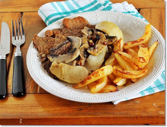 Gizi-receptjei.  Várok mindenkit.: Pikáns sertésszelet sütőben sült krumplival.